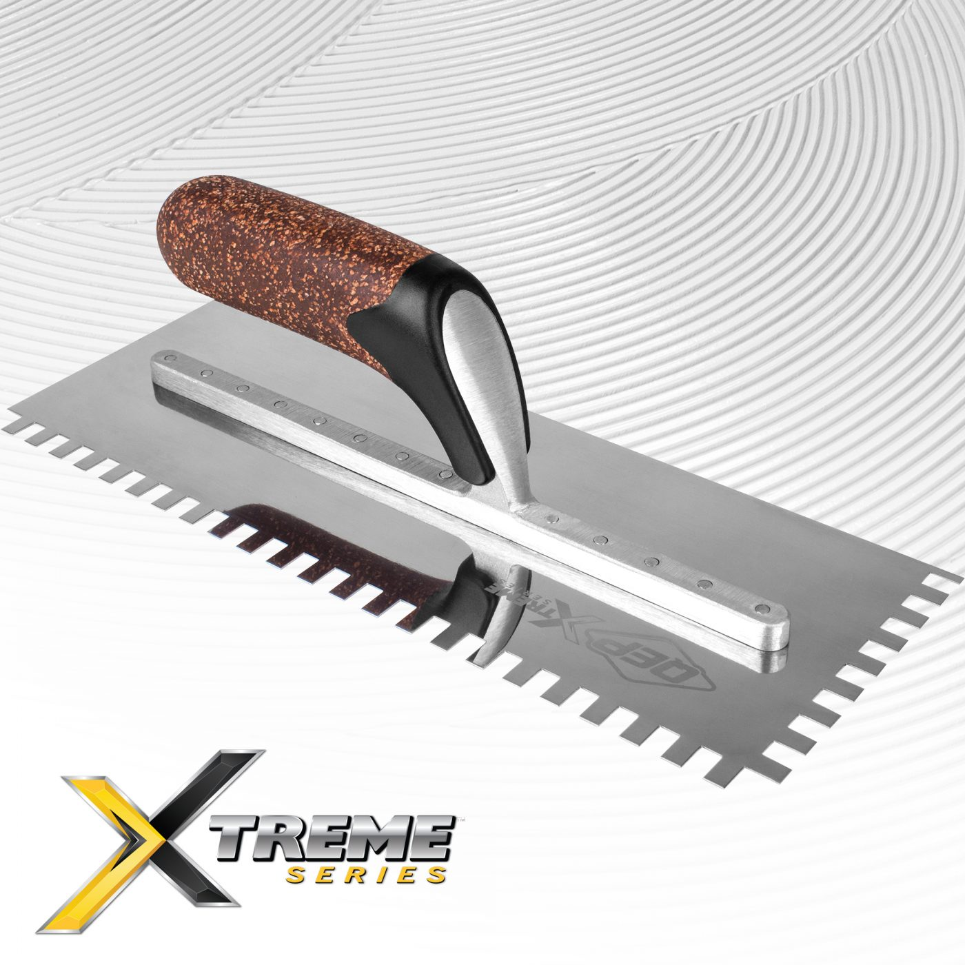 X-TREME Cork Handle Notched Trowels